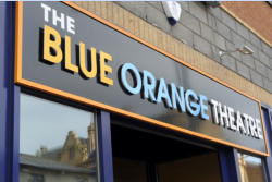 Blue Orange Theatre signage